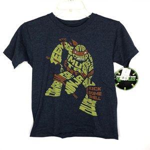 TMNT Graphic Short Sleeves T-Shirt Small Boy